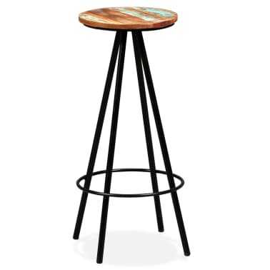 vidaXL Bar Stools 2 pcs Solid Reclaimed Wood[13/16]