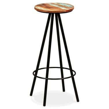 vidaXL Bar Stools 2 pcs Solid Reclaimed Wood[14/16]