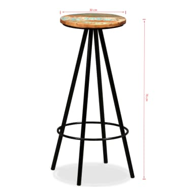 vidaXL Bar Stools 2 pcs Solid Reclaimed Wood[16/16]