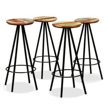 vidaXL Scaune de bar, 4 buc., lemn masiv reciclat[1/16]