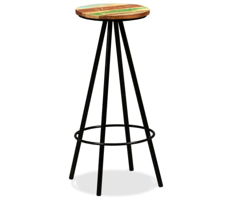 vidaXL Scaune de bar, 4 buc., lemn masiv reciclat[11/16]