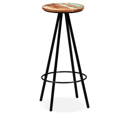 vidaXL Scaune de bar, 4 buc., lemn masiv reciclat[13/16]