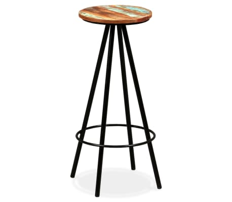 vidaXL Scaune de bar, 4 buc., lemn masiv reciclat[14/16]