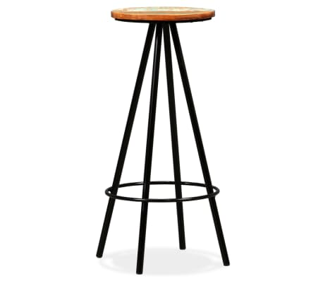 vidaXL Scaune de bar, 4 buc., lemn masiv reciclat[7/16]