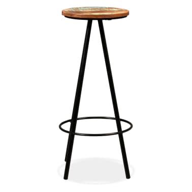 vidaXL Scaune de bar, 4 buc., lemn masiv reciclat[2/16]