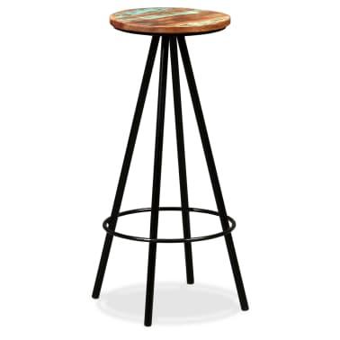 vidaXL Scaune de bar, 4 buc., lemn masiv reciclat[12/16]