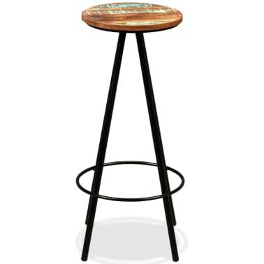 vidaXL Scaune de bar, 4 buc., lemn masiv reciclat[15/16]