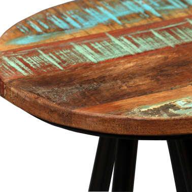 vidaXL Scaune de bar, 4 buc., lemn masiv reciclat[4/16]