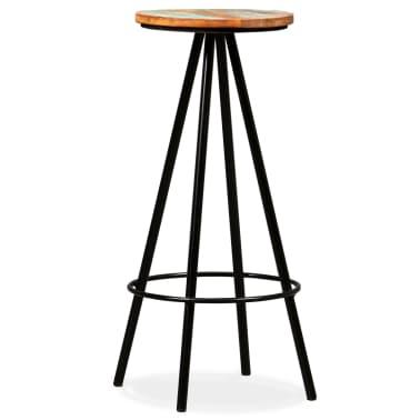 vidaXL Scaune de bar, 4 buc., lemn masiv reciclat[8/16]