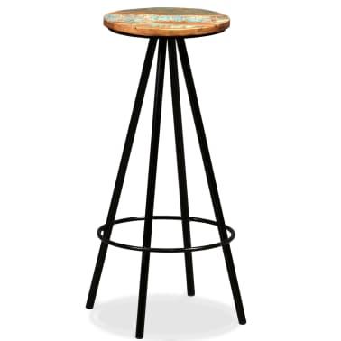 vidaXL Scaune de bar, 4 buc., lemn masiv reciclat[9/16]