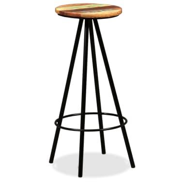 vidaXL Scaune de bar, 4 buc., lemn masiv reciclat[10/16]