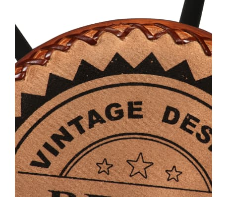 vidaXL Bar Stools 2 pcs Real Leather[8/15]