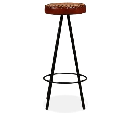 vidaXL Bar Stools 4 pcs Real Leather[14/15]