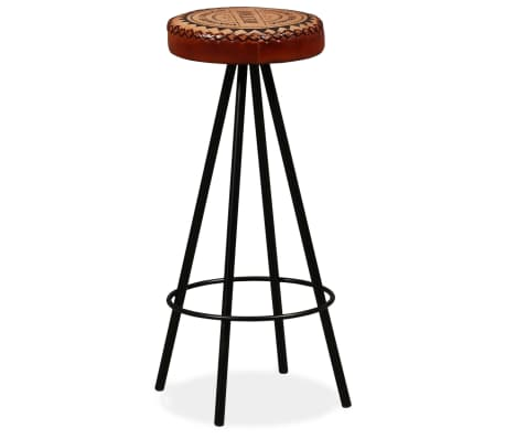 vidaXL Bar Stools 4 pcs Real Leather[10/15]