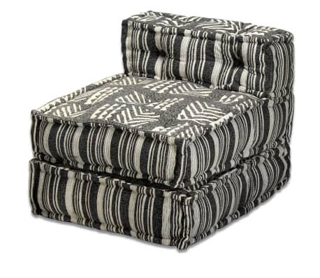 vidaXL Trivietė modulinė sofa lova, audinys, dryžuota[11/14]