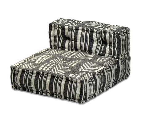 vidaXL Trivietė modulinė sofa lova, audinys, dryžuota[13/14]