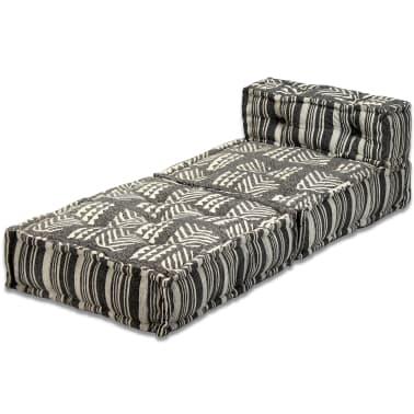 vidaXL Trivietė modulinė sofa lova, audinys, dryžuota[7/14]
