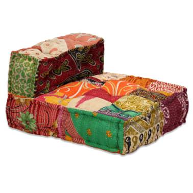 vidaXL 4-vietė modulinė sofa lova, skiautinis audinys[8/20]