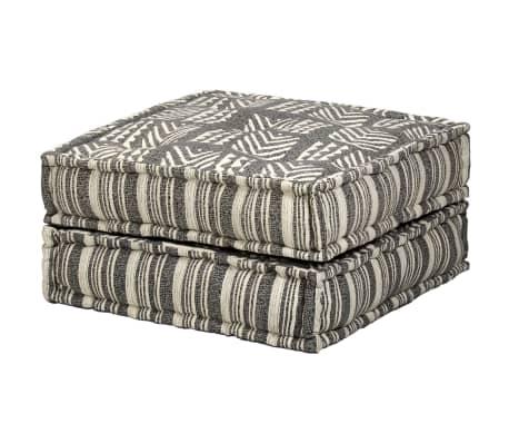 vidaXL Trivietė modulinė sofa-lova, audinys, dryžuota[15/23]