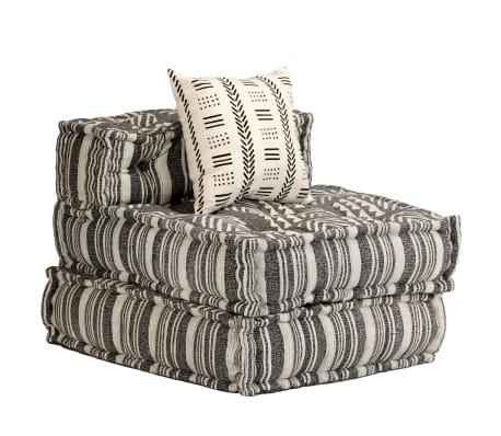 vidaXL Trivietė modulinė sofa-lova, audinys, dryžuota[18/23]