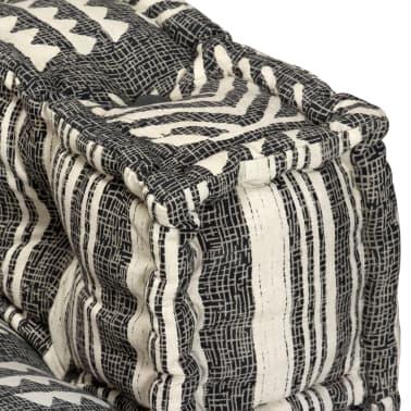 vidaXL Trivietė modulinė sofa-lova, audinys, dryžuota[13/23]