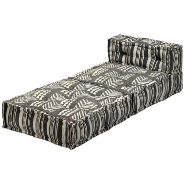 vidaXL Trivietė modulinė sofa-lova, audinys, dryžuota[14/23]