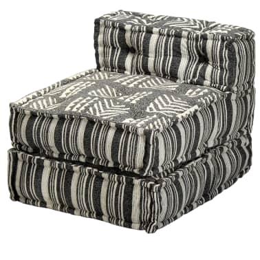 vidaXL Trivietė modulinė sofa-lova, audinys, dryžuota[16/23]