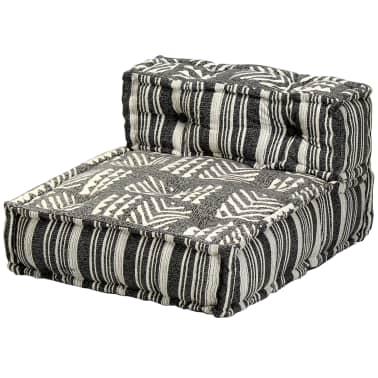 vidaXL Trivietė modulinė sofa-lova, audinys, dryžuota[17/23]