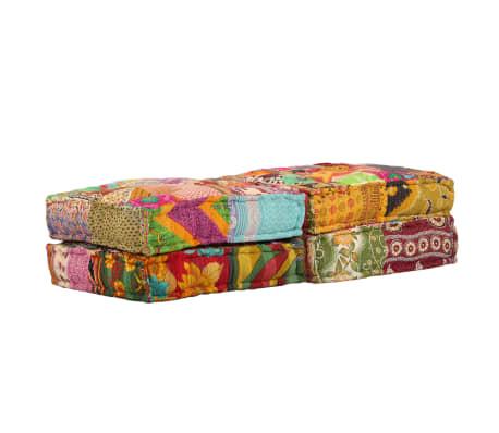 vidaXL Dvivietė modulinė sofa lova, skiautinis dizainas[5/11]