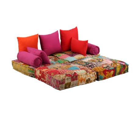 vidaXL Dvivietė modulinė sofa lova, skiautinis dizainas[9/11]