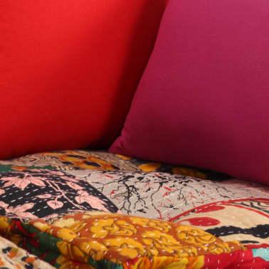 vidaXL Dvivietė modulinė sofa lova, skiautinis dizainas[7/11]
