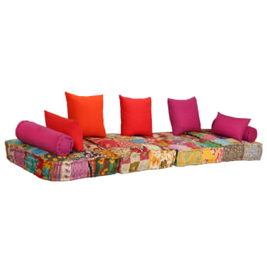 vidaXL Dvivietė modulinė sofa lova, skiautinis dizainas[8/11]