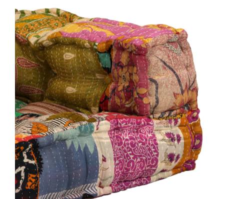 vidaXL Dvivietė modulinė sofa su porankiais, skiautinis dizainas[7/9]