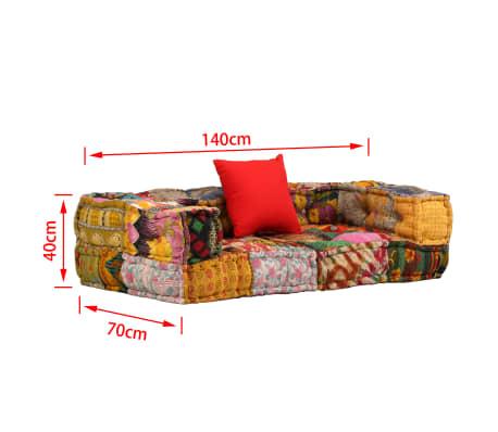 vidaXL Dvivietė modulinė sofa su porankiais, skiautinis dizainas[9/9]