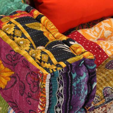 vidaXL Dvivietė modulinė sofa su porankiais, skiautinis dizainas[6/9]
