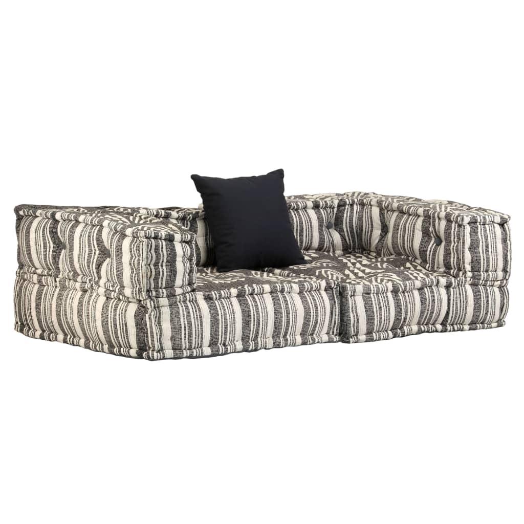 <ul><li>Farbe: Gestreift Grau</li><li>Bezugsmaterial: Textilgewebe</li><li>Polstermaterial: Schaumstoff + Polyester</li><li>Gesamtabmessungen: 140 x 70 x 40 cm (B x T x H)</li><li>Kissengröße: 45 x 45 cm (L x B)</li><li>Sitzbreite: 100 cm</li><li>Sitztiefe: 50 cm</li><li>Sitzhöhe vom Boden: 20 cm</li><li>Gestreiftes Design</li><li>Lieferumfang umfasst 1 Kissen</li><li>Material: Baumwolle: 100%</li></ul>