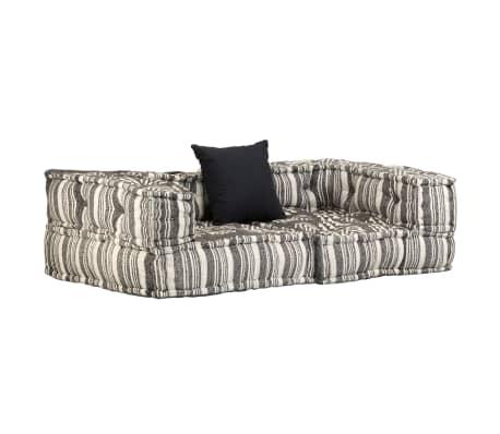 acheter vidaxl canap modulaire 2 places avec accoudoirs tissu rayure pas cher. Black Bedroom Furniture Sets. Home Design Ideas