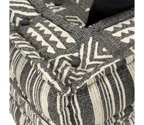 vidaXL Dvivietė modulinė sofa su porankiais, audinys, dryžuota[6/7]