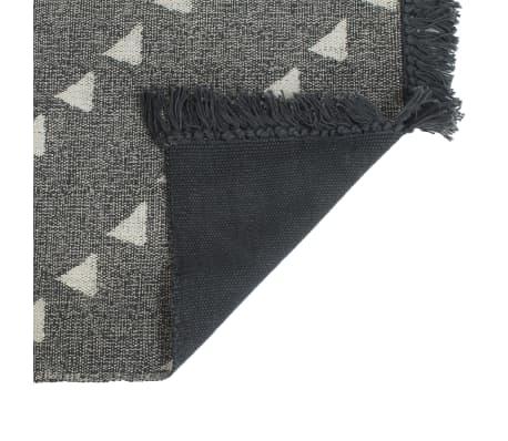 vidaXL Puff und Teppich 3-tlg Stoff gestreift[9/10]