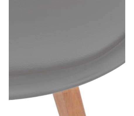 vidaXL Krzesła do jadalni, 6 szt., sztuczna skóra, lite drewno, szare[5/6]