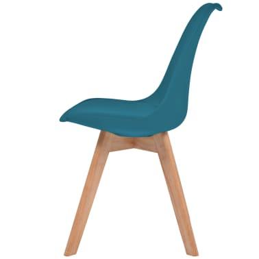 vidaXL Krzesła, 6 sztuk, sztuczna skóra, lite drewno, turkusowe[4/6]