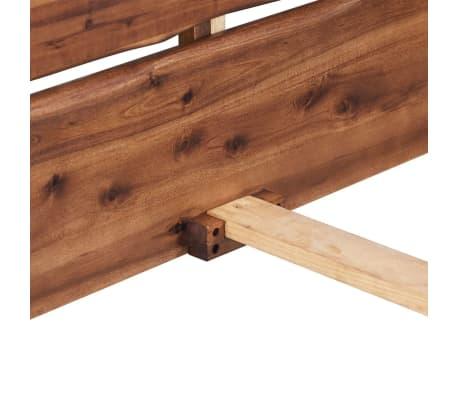 vidaXL Lova su Memory čiužiniu, tvirta akacijos mediena, 140x200cm[6/13]