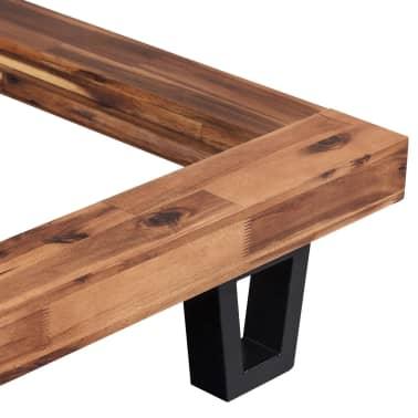 vidaXL Lova su Memory čiužiniu, tvirta akacijos mediena, 140x200cm[4/13]