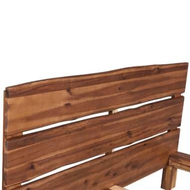 vidaXL Lova su Memory čiužiniu, tvirta akacijos mediena, 140x200cm[5/13]