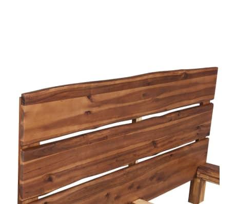 vidaXL Lova su čiužiniu, tvirta akacijos mediena, 180x200cm[5/11]