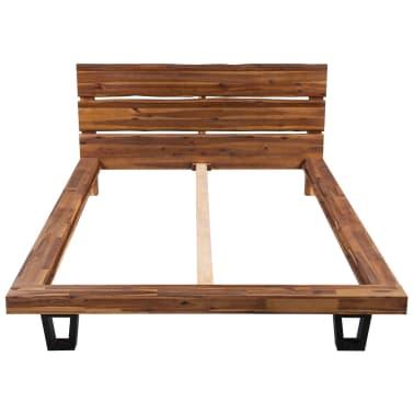 vidaXL Lova su čiužiniu, tvirta akacijos mediena, 180x200cm[3/11]