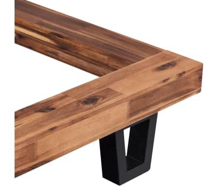 vidaXL Lova su Memory čiužiniu, masyvi akacijos mediena, 180x200cm[4/13]