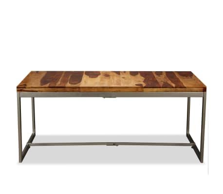 vidaXL Masă de bucătărie, lemn masiv de sheesham și oțel, 180 cm[2/14]