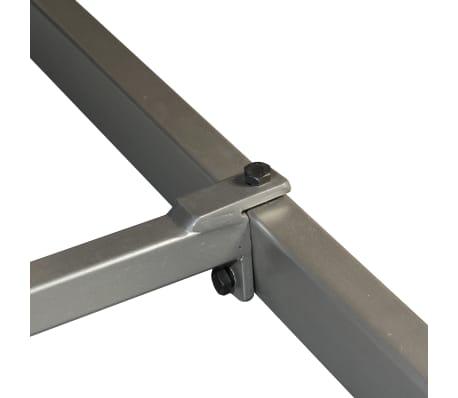 vidaXL Masă de bucătărie, lemn masiv de sheesham și oțel, 180 cm[5/14]
