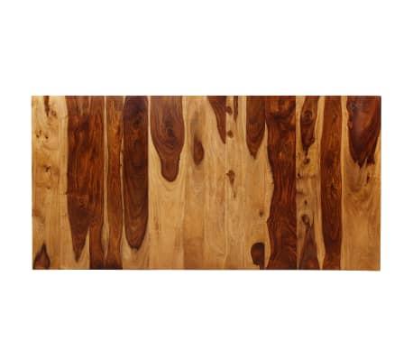 vidaXL Masă de bucătărie, lemn masiv de sheesham și oțel, 180 cm[6/14]